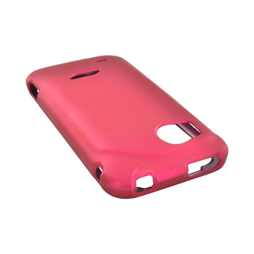 HTC Rezound Rubberized Hard Case - Rose Pink