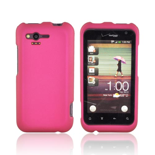 HTC Rhyme Rubberized Hard Case - Rose Pink