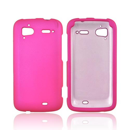 HTC Sensation 4G Rubberized Hard Case - Hot Pink