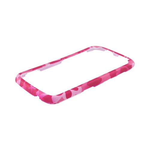 HTC Sensation 4G Rubberized Hard Case - Pink Flowers on Pink