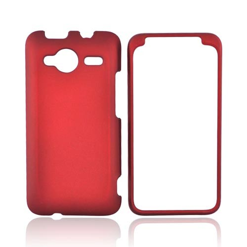 HTC EVO Shift 4G Rubberized Hard Case - Red
