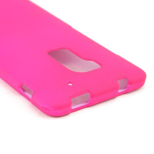 Hot Pink Rubberized Hard Case for HTC One Max
