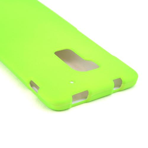 Neon Green Rubberized Hard Case for HTC One Max