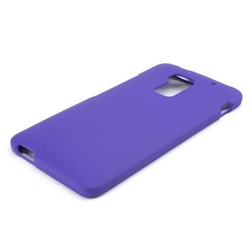 Purple Rubberized Hard Case for HTC One Max