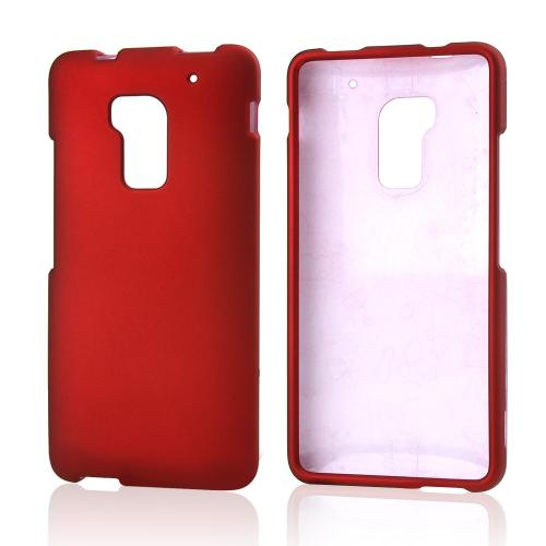 Red Rubberized Hard Case for HTC One Max
