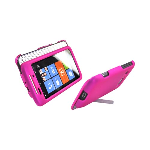 HTC Surround T8788 Rubberized Hard Case - Hot Pink