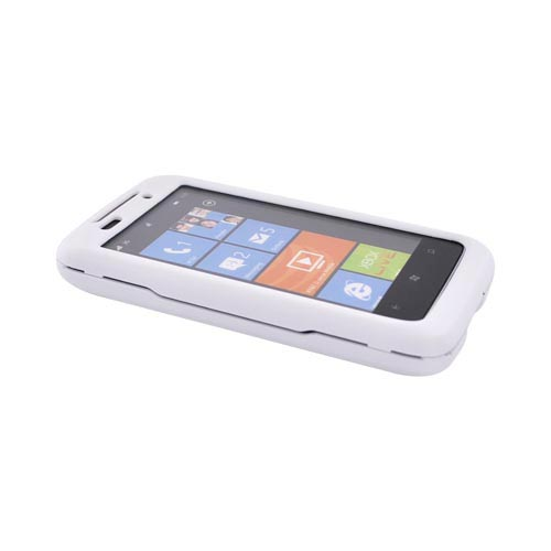 HTC Surround T8788 Rubberized Hard Case - White