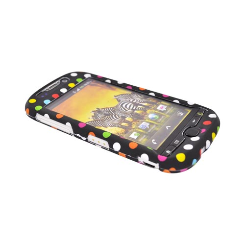 T-Mobile MyTouch 4G Rubberized Hard Case - Rainbow Dots on Black