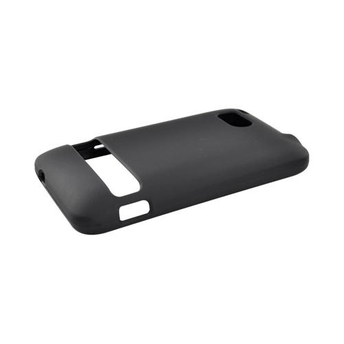 HTC Thunderbolt Rubberized Hard Case - Black
