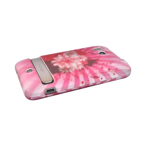 HTC Thunderbolt Rubberized Hard Case - Pink Flowers