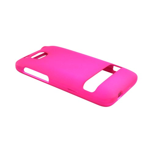 HTC Thunderbolt Rubberized Hard Case - Hot Pink