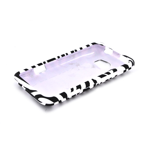 HTC Titan 2 Rubberized Hard Case - Black/ White Zebra