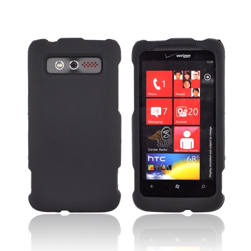 HTC Trophy Rubberized Hard Case - Black