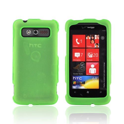 HTC Trophy Rubberized Hard Case - Neon Green