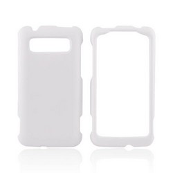 HTC Trophy Rubberized Hard Case - White