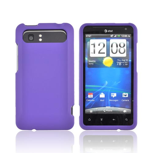 HTC Vivid Rubberized Hard Case - Purple