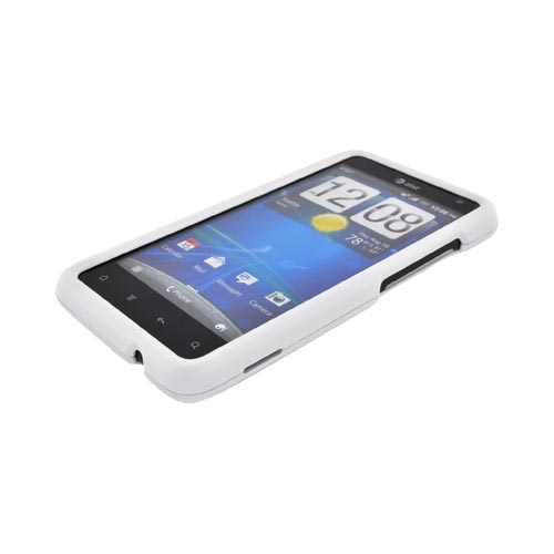 HTC Vivid Rubberized Hard Case - Solid White