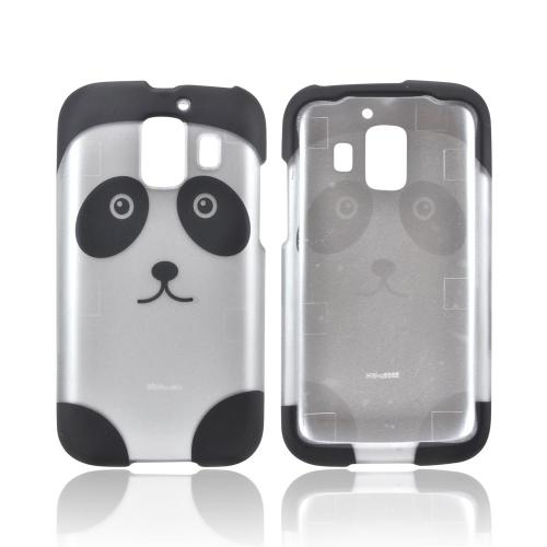 AT&T Fusion 2 U8665 Rubberized Hard Case - Silver/ Black Panda