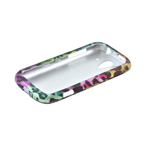 T-Mobile Huawei myTouch 2 Rubberized Hard Case - Multi-Colored Artsy Leopard