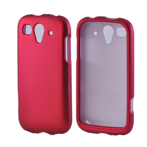 T-Mobile Huawei myTouch 2 Rubberized Hard Case - Hot Pink