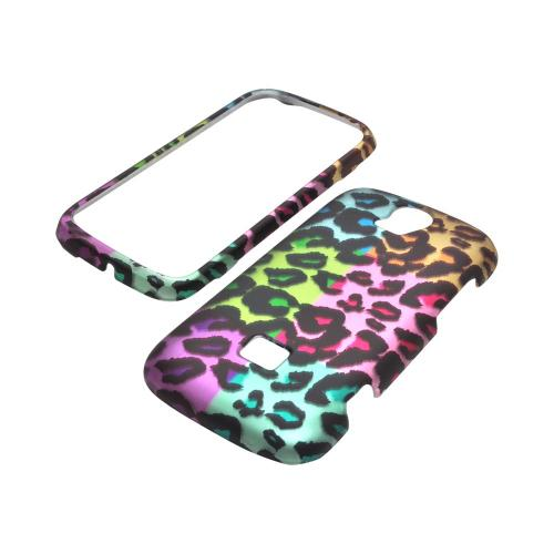 T-Mobile Huawei myTouch Q 2 Rubberized Hard Case - Multi-Colored Artsy Leopard