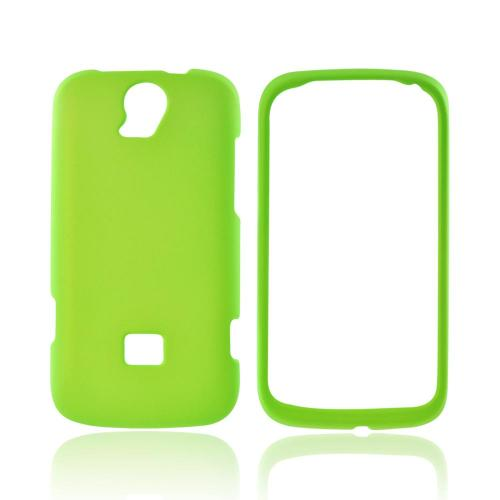 T-Mobile Huawei myTouch Q 2 Rubberized Hard Case - Neon Green