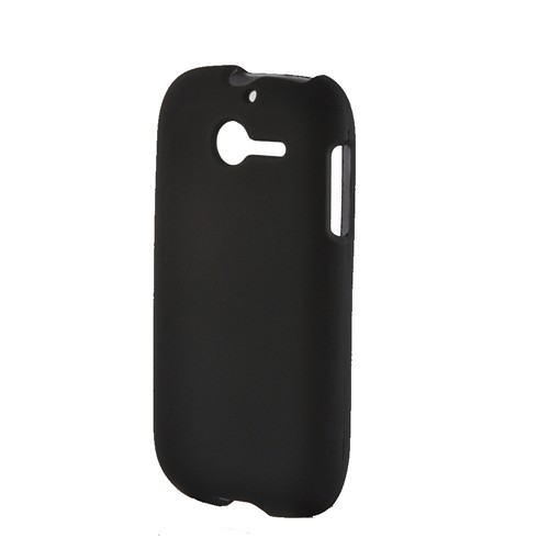 Black Rubberized Hard Case for Huawei Ascend Y