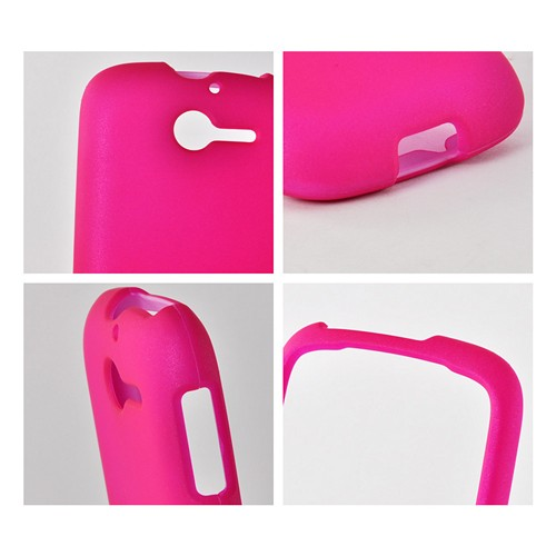 Hot Pink Rubberized Hard Case for Huawei Ascend Y