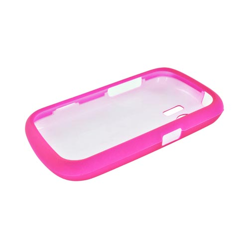 Huawei Pinnacle M635 Rubberized Hard Case - Hot Pink