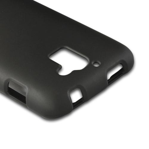 Black Rubberized Hard Case for Huawei Premia 4G