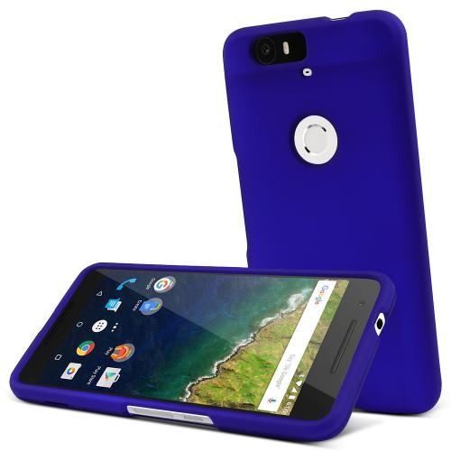 Huawei Nexus 6P Case,  [Blue]  Slim & Protective Rubberized Matte Finish Snap-on Hard Polycarbonate Plastic Case Cover