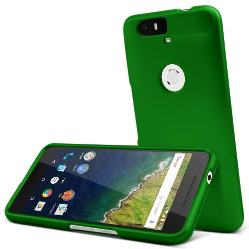 Huawei Nexus 6P Case,  [Dark Green]  Slim & Protective Rubberized Matte Finish Snap-on Hard Polycarbonate Plastic Case Cover