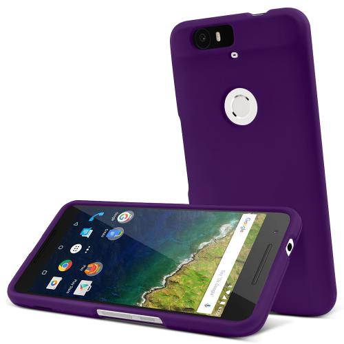 Huawei Nexus 6P Case,  [Purple]  Slim & Protective Rubberized Matte Finish Snap-on Hard Polycarbonate Plastic Case Cover