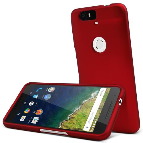 Huawei Nexus 6P Case,  [Red]  Slim & Protective Rubberized Matte Finish Snap-on Hard Polycarbonate Plastic Case Cover