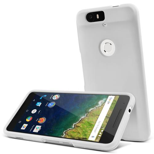 Huawei Nexus 6P Case,  [White]  Slim & Protective Rubberized Matte Finish Snap-on Hard Polycarbonate Plastic Case Cover