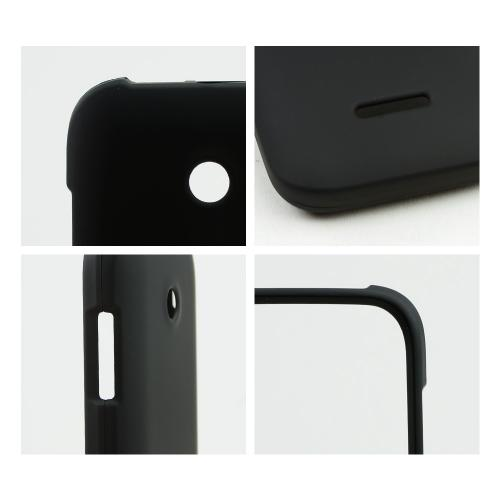 Black Rubberized Hard Case for T-Mobile Prism 2