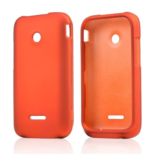 Orange Rubberized Hard Case for T-Mobile Prism 2