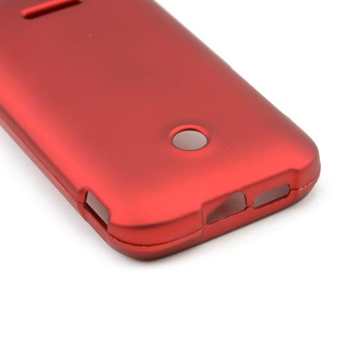 Red Rubberized Hard Case for T-Mobile Prism 2