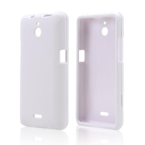 White Rubberized Hard Case for Huawei Valiant