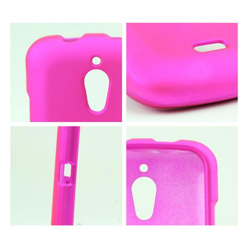 Hot Pink Rubberized Hard Case for Huawei Vitria