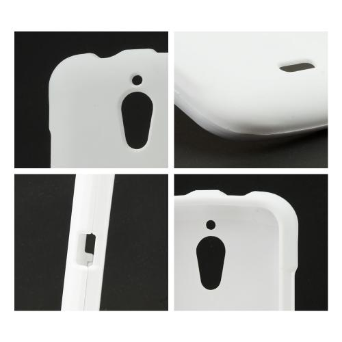 White Rubberized Hard Case for Huawei Vitria