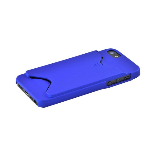 Apple iPhone SE / 5 / 5S  Case,  [Blue]  Slim & Protective Rubberized Matte Finish Snap-on Hard Polycarbonate Plastic Case Cover w/ ID Slot