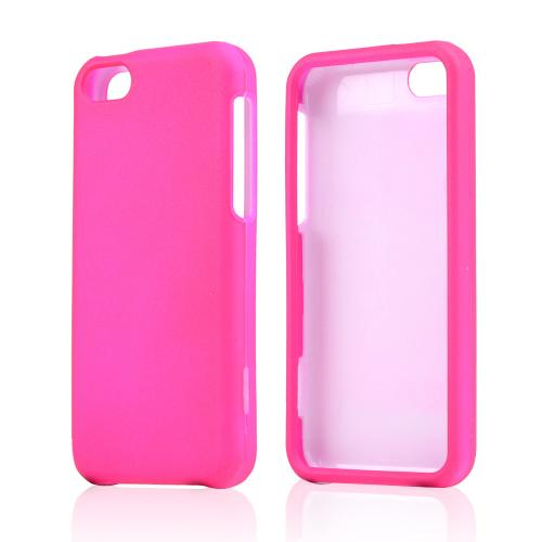 Hot Pink Rubberized Hard Case for Apple iPhone 5C