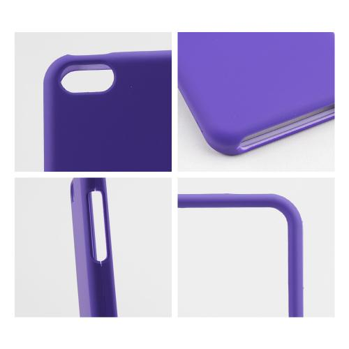 Purple Rubberized Hard Case for Apple iPhone 5C