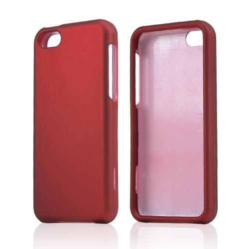 Red Rubberized Hard Case for Apple iPhone 5C