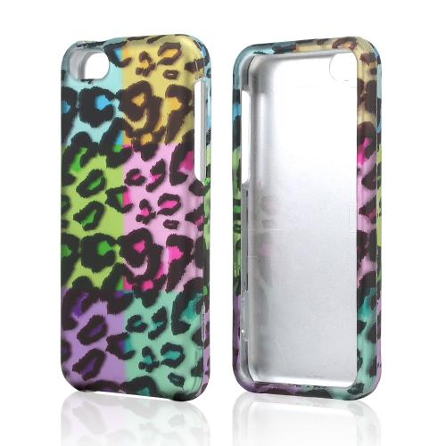 Multi-Colored Artsy Leopard Rubberized Hard Case for Apple iPhone 5C