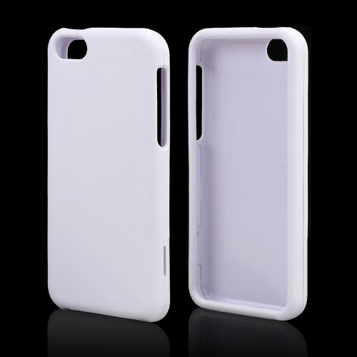White Rubberized Hard Case for Apple iPhone 5C