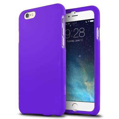 Purple Matte Rubberized Hard Case Cover Made for  iPhone 6 (4.7 inch) ; Perfect fit as Best Coolest Design Plastic Cases