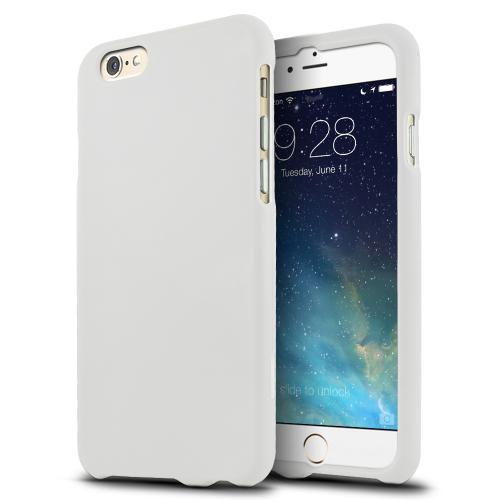 White Apple iPhone 6 (4.7 inches) Matte Rubberized Hard Case Cover; Perfect fit as Best Coolest Design Plastic Cases