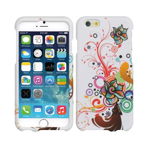 Apple iPhone 6/ 6S Case,  [Autumn Floral Burst]  Slim & Protective Rubberized Matte Finish Snap-on Hard Polycarbonate Plastic Case Cover